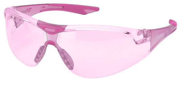 Elvex Avion SlimFit Safety Glasses with Pink Temples and #1 Pink Lens