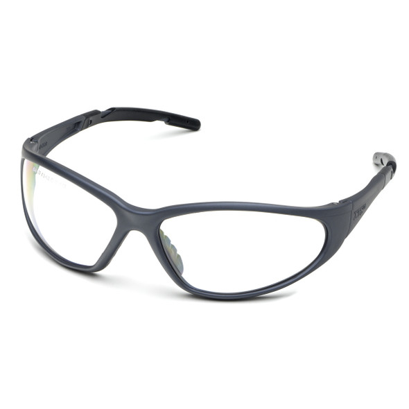 Elvex XTS Safety Glasses with Gray Frame and Clear Lens SG-24C