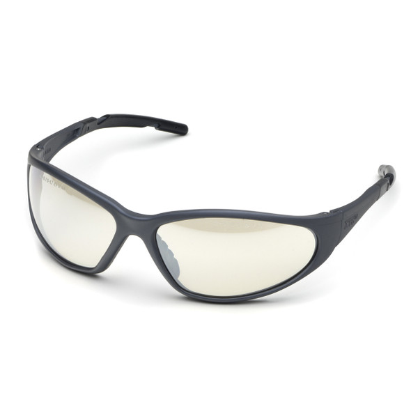Elvex XTS Safety Glasses with Gray Frame and Indoor/Outdoor Lens SG-24IO
