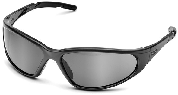 Elvex XTS Safety Glasses with Black Frame and Silver Mirror Lens SG-24M-BLK