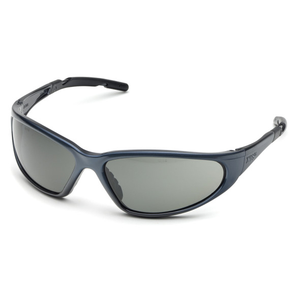 Elvex XTS Safety Glasses with Blue Frame and Polarized Gray Lens SG-24PL
