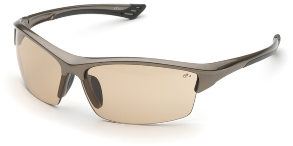 Elvex Sonoma Safety Glasses with Brown Frame and Light Brown Lens