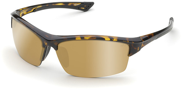 Elvex Sonoma Safety Glasses with Tortoise Frame and Gold Mirror Lens