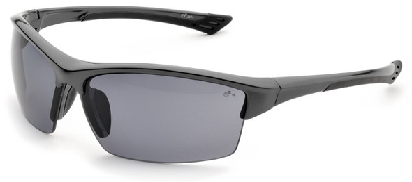 Elvex Sonoma Safety Glasses with Gray Frame and Polarized Gray Lenses