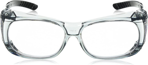 Elvex OVR-Spec II Safety Glasses with Translucent Frame and Clear Lens SG-37C Front View