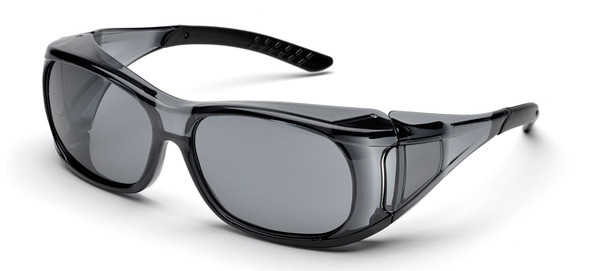 Elvex OVR-Spec II Safety Glasses with Smoky Frame and Gray Lens