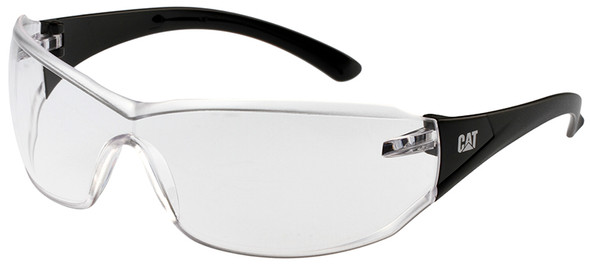 CAT Shield Safety Glasses with Black Frame and Clear Lens SHIELD-100