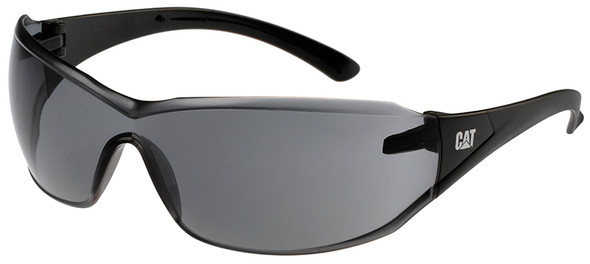 CAT Shield Safety Glasses with Black Frame and Smoke Lens SHIELD-104