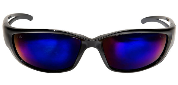 Edge Kazbek XL Safety Glasses with Blue Mirror Lens - Front