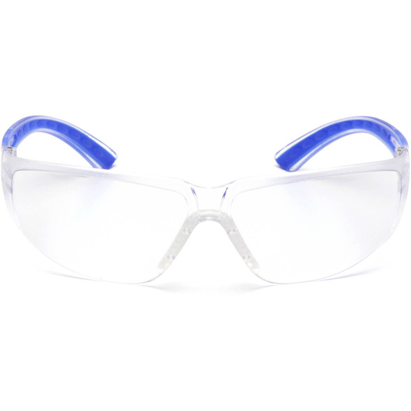 Pyramex Cortez Safety Glasses Navy Temples Clear Lens SN3610S Front