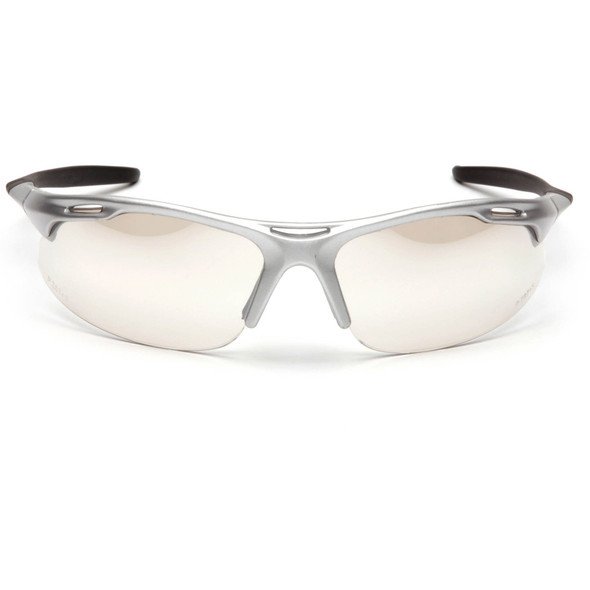 Pyramex Avante Safety Glasses with Silver Frame and Indoor/Outdoor Lens SS4580D Front View
