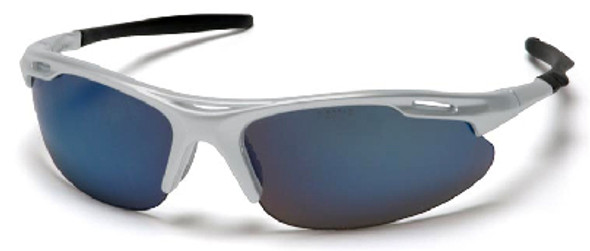 Pyramex Avante Safety Glasses with Silver Frame and Ice Blue Lens