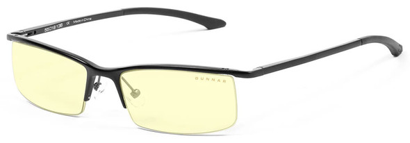 Gunnar Emissary Computer Glasses with Onyx Frame and Amber Lens