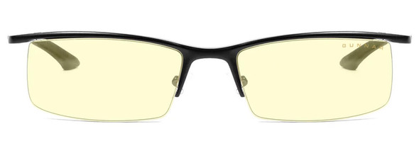Gunnar Emissary Computer Glasses with Onyx Frame and Amber Lens - Front