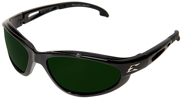 Edge Dakura Safety Glasses with Black Frame and Shade 5 Lens