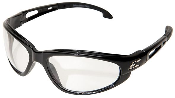 Edge Dakura Safety Glasses with Black Frame and Clear Vapor Shield Lens