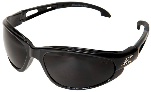 Edge Dakura Safety Glasses with Black Frame and Smoke Vapor Shield Lens