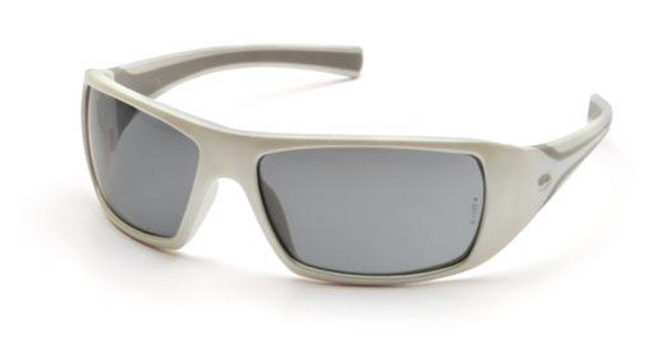 Pyramex Goliath Safety Glasses with Pearl White Frame and Gray Lens SW5620D