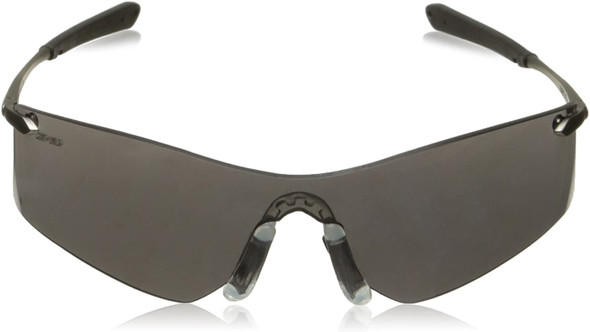Crews Rubicon Safety Glasses with Gray Anti-Fog Lens T4112AF Front View