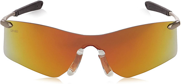 Crews Rubicon Safety Glasses with Fire Mirror Lens T411R Front View