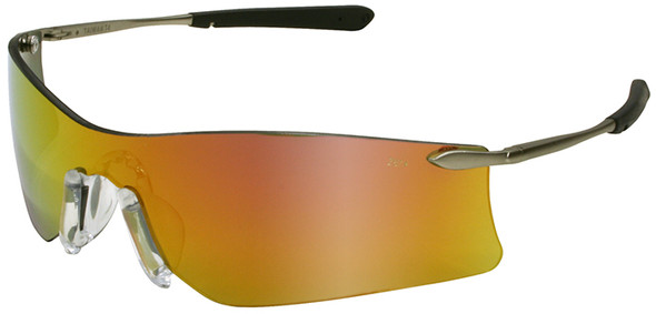 Crews Rubicon Safety Glasses with Fire Mirror Lens T411R