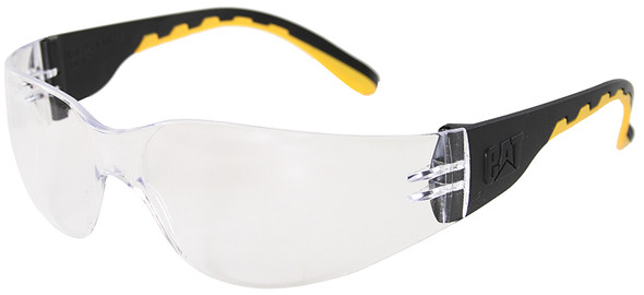 CAT Track Safety Glasses with Black Frame and Clear Lens TRACK-100