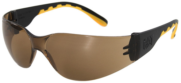 CAT Track Safety Glasses with Black Frame and Brown Lens TRACK-103