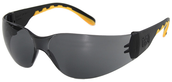 CAT Track Safety Glasses with Black Frame and Smoke Lens TRACK-104