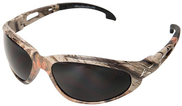 Edge Dakura Polarized Safety Glasses with Camo Frame and Smoke Lens