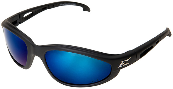 Edge Dakura Polarized Safety Glasses with AP Blue Mirror Lens