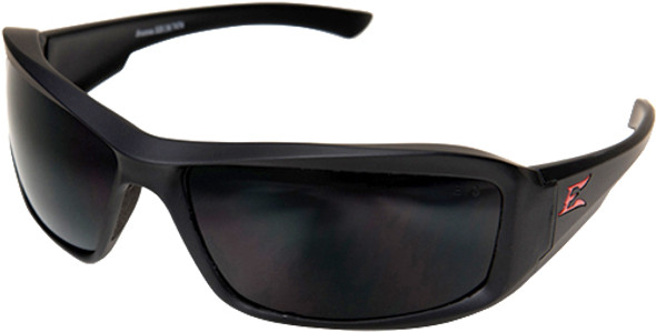 Edge Brazeau Torque Safety Glasses with Black Frame, Red E Logo and Polarized Smoke Lens