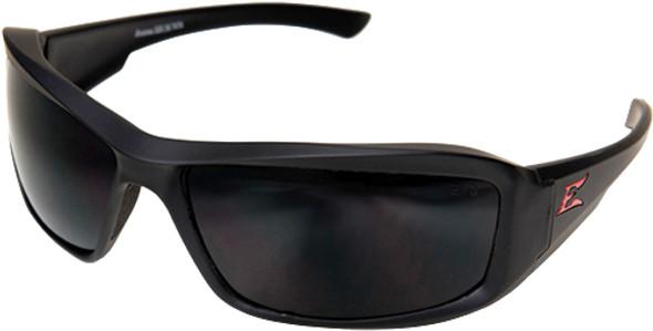 Edge Brazeau Torque Safety Glasses with Black Frame, Red E Logo and Polarized Smoke Lens