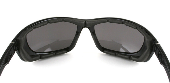 Crews USS Defense Foam Safety Glasses with Black Frame and Gray IR 3.0 Lens - Inside View