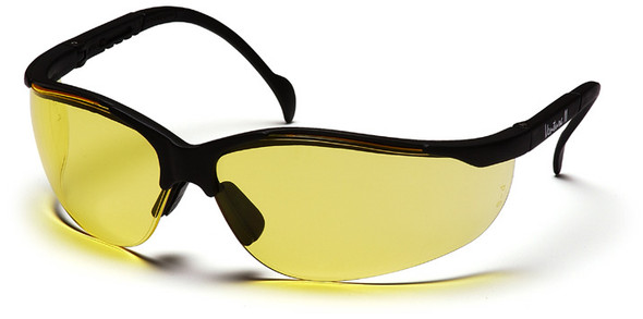 Pyramex Venture 2 Safety Glasses Black Frame Amber Lens SB1830S