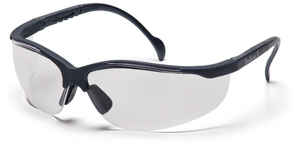Pyramex Venture 2 Safety Glasses with Slate Gray Frame and Clear Lens SSG1810S