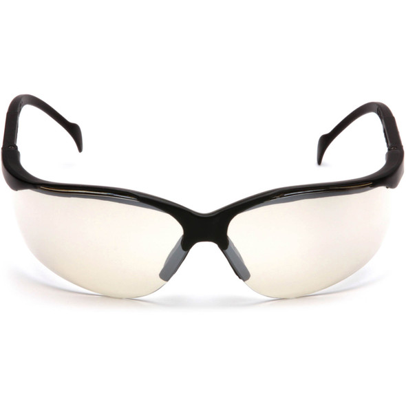 Pyramex Venture 2 Safety Glasses Black Frame Indoor/Outdoor Lens SB1880S Front View