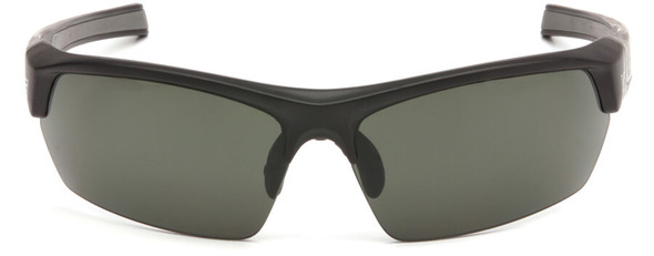 Venture Gear Tensaw Safety Sunglasses with Black Frame and Smoke Green Anti-Fog Lens - Front