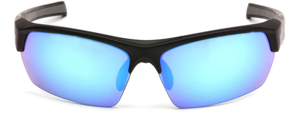 Venture Gear Tensaw Safety Sunglasses with Black Frame and Ice Blue Mirror Anti-Fog Lens - Front