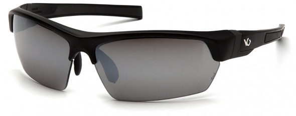 Venture Gear Tensaw Safety Sunglasses with Black Frame and Silver Mirror Anti-Fog Lens