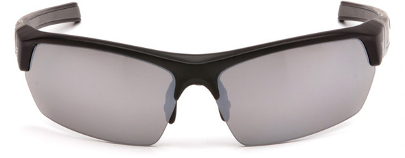Venture Gear Tensaw Safety Sunglasses with Black Frame and Silver Mirror Anti-Fog Lens - Front