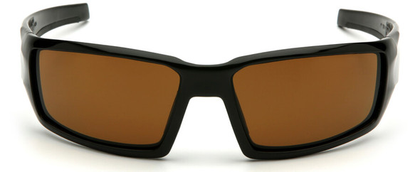Venture Gear Pagosa Safety Sunglasses with Black Frame and Bronze Anti-Fog Lens - Front