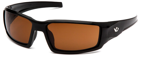 Venture Gear Pagosa Safety Sunglasses with Black Frame and Bronze Anti-Fog Lens