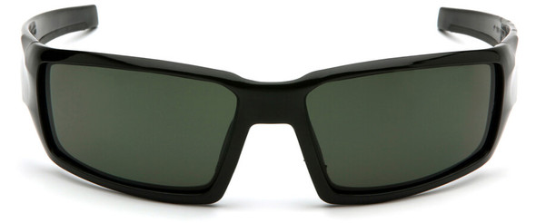 Venture Gear Pagosa Safety Sunglasses with Black Frame and Smoke Green Anti-Fog Lens - Front