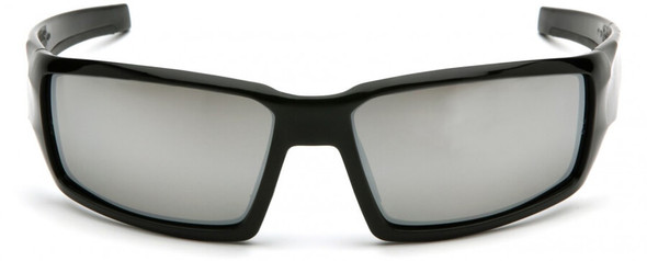 Venture Gear Pagosa Safety Sunglasses with Black Frame and Silver Mirror Anti-Fog Lens - Front