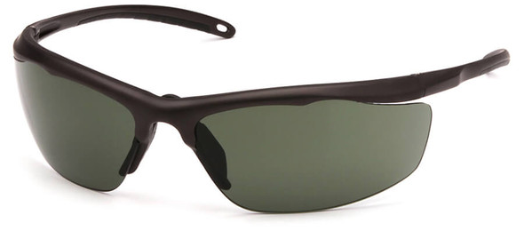 Venture Gear Zumbro Safety Sunglasses with Bronze Frame and Smoke Green Anti-Fog Lens
