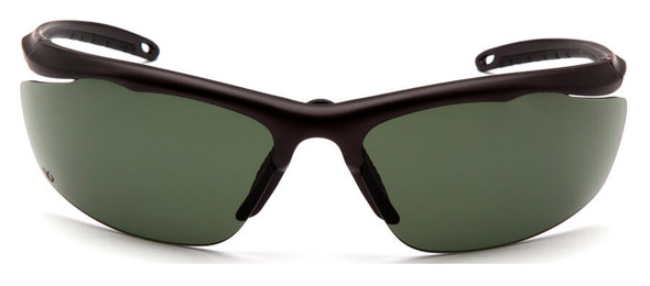 Venture Gear Zumbro Safety Sunglasses with Bronze Frame and Smoke Green Anti-Fog Lens - Front