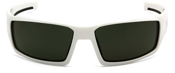 Venture Gear Pagosa Safety Sunglasses with White Frame and Smoke Green Anti-Fog Lens - Front