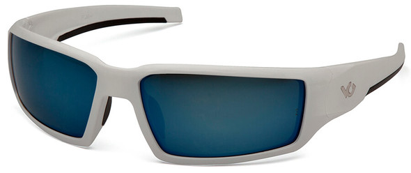 Venture Gear Pagosa Safety Sunglasses with White Frame and Ice Blue Mirror Anti-Fog Lens