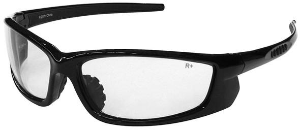 Radians Voltage Safety Glasses with Black Frame and Clear Lens VT1-10