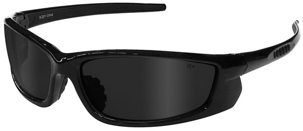 Radians Voltage Safety Glasses with Black Frame and Smoke Lens VT1-20
